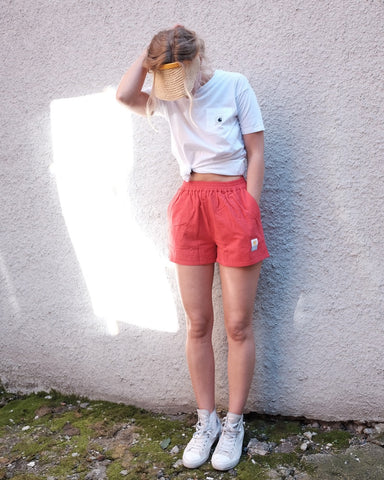 Linen Shorts, Red