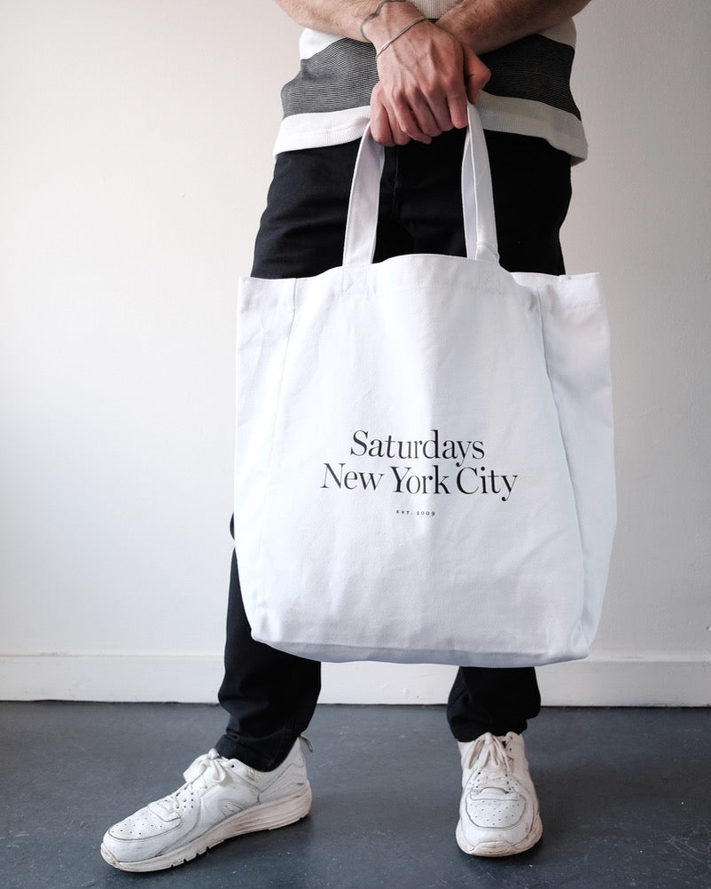Saturdays Miller Tote, White