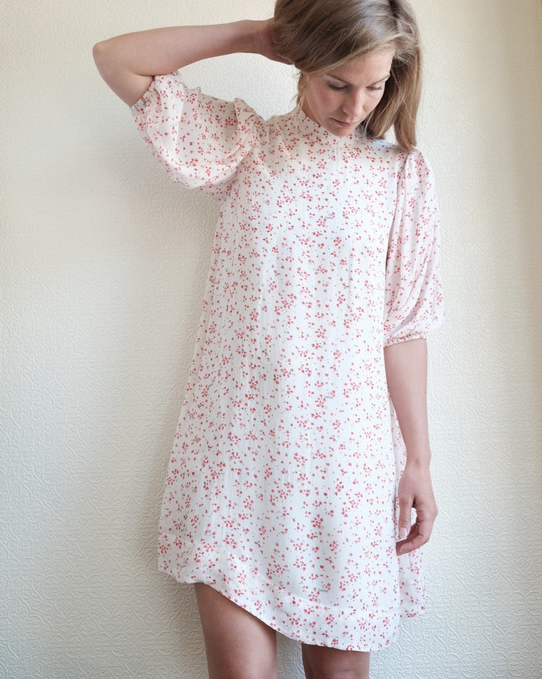 Georgette Dress, Calico Floral