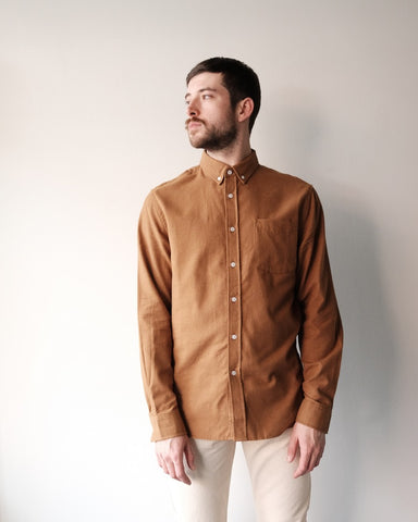 Crosby Flannel Shirt, Burnt Khaki