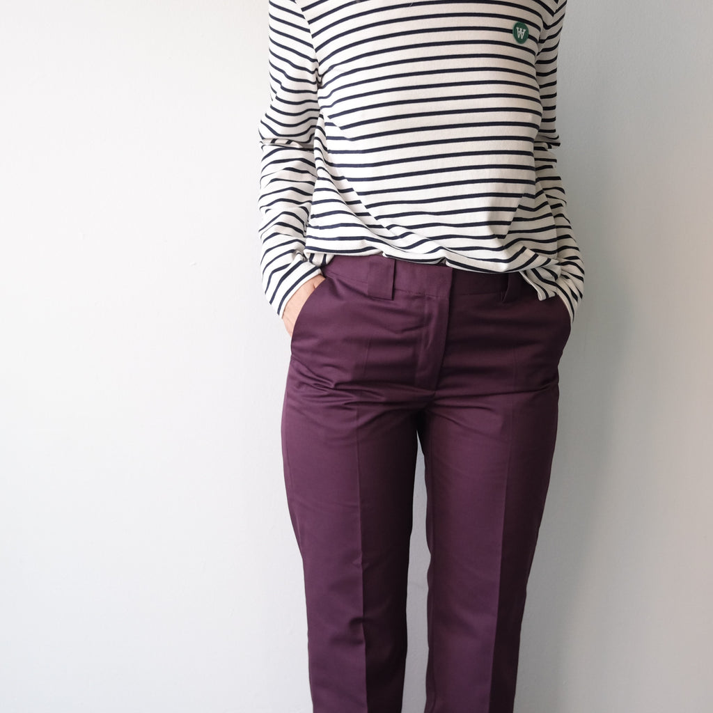 Veneda Trousers, Burgundy
