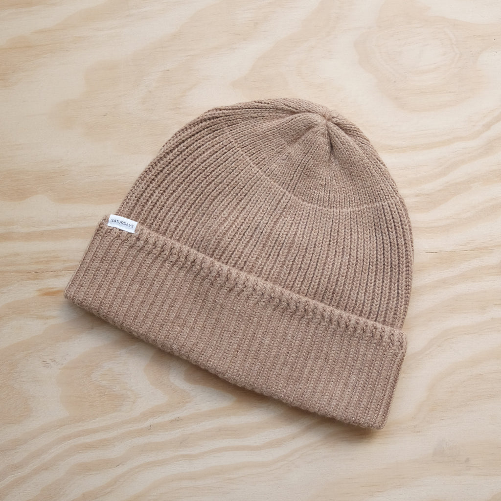 Saturdays Rib Beanie, Khaki