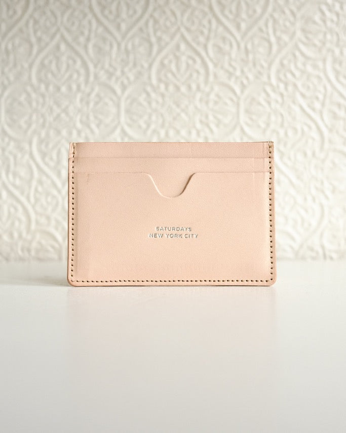 Ryan Card Holder, Vegetable Tan