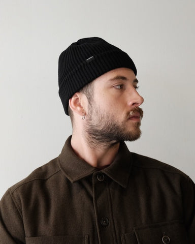 Saturdays Rib Beanie, Black