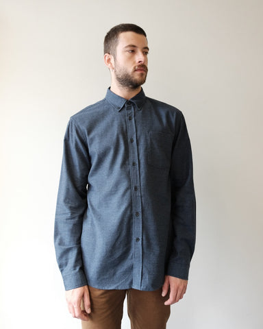 Crosby Flannel Shirt, Midnight