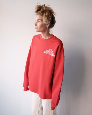 Unisex Cozy Sweatshirt, Red