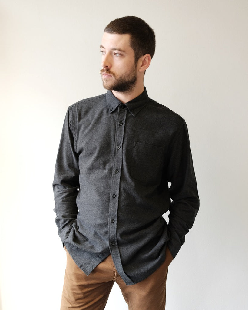 Crosby Flannel Shirt, Black
