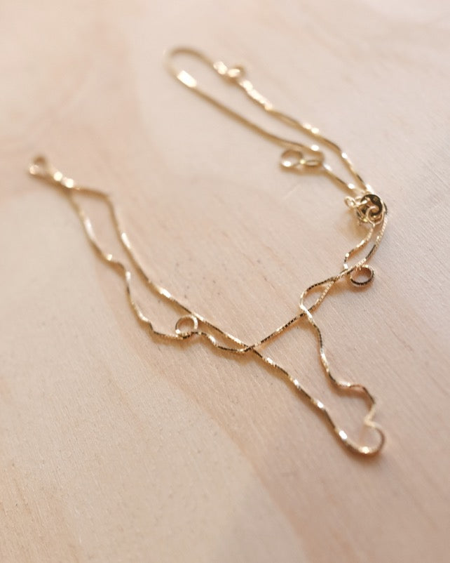 Box Chain Long, 14k Gold