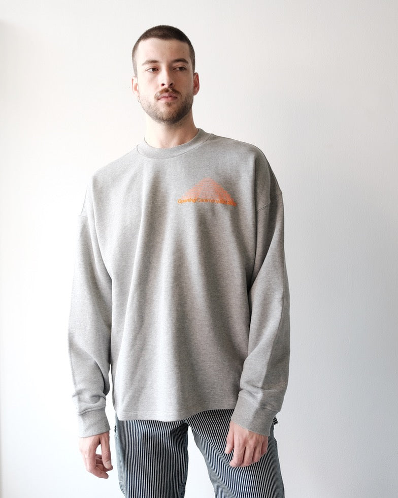 Unisex Cozy Sweatshirt, Heather Grey