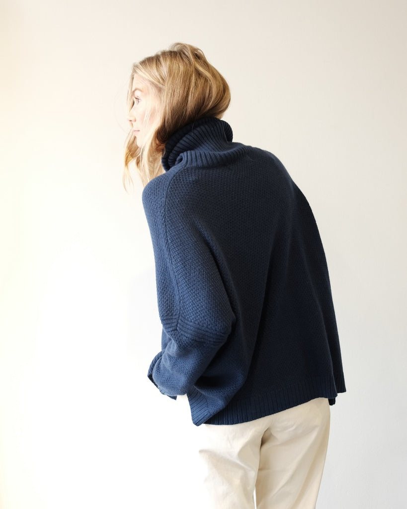 Theo Knit Sweater, Navy