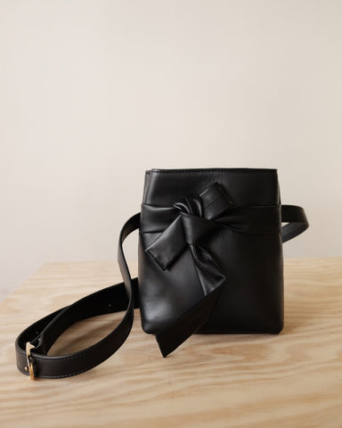 The Stowe Esther Bag, Black Nappa
