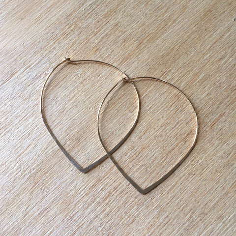 Petal Hoops, Gold Fill