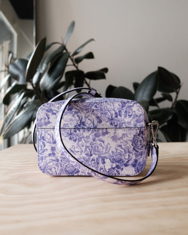 Printed Leather Bag, Tulip