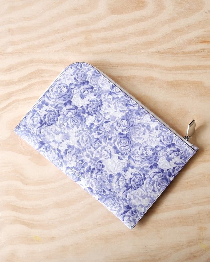 Printed Leather Pouch, Tulip