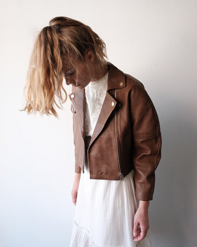 Grain Leather Jacket, Tannin