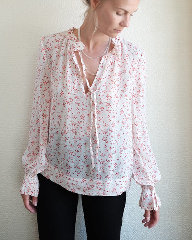 Printed Georgette Top, Calico Floral