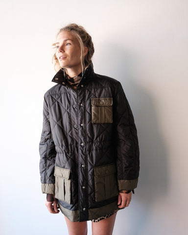 Ripstop Quilted Jacket, Black