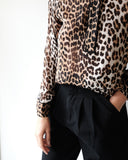 Georgette Top, Leopard
