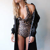 Leopard Print Maillot