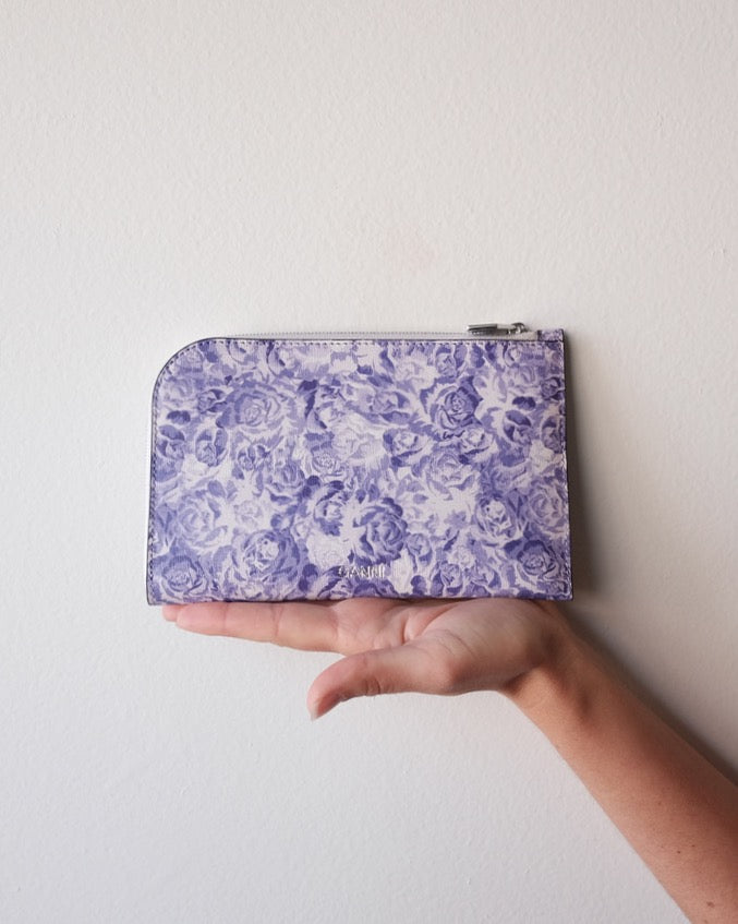 Printed Leather Wallet, Tulip