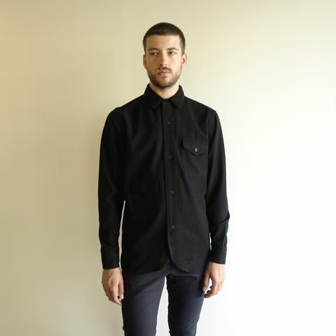 Army Shirt, Black Wool
