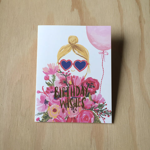 Heart Shaped Glasses Card