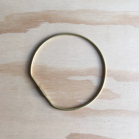 Contour Key Ring, Hoop