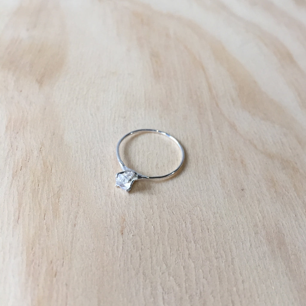 Moonstone Princess Ring, Sterling Silver