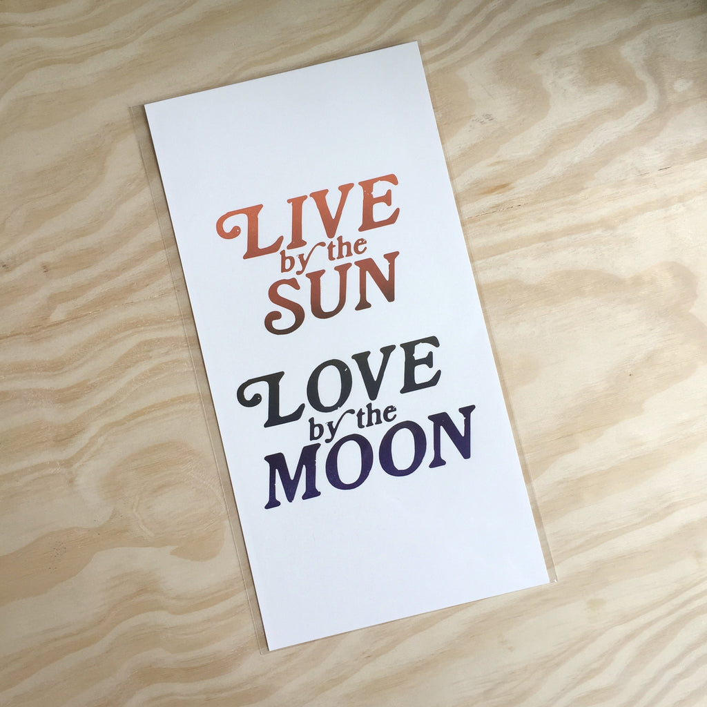 Love By The Moon Print