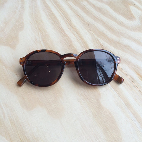 Cytric Sunglasses, Brown Turtle