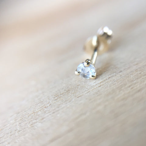 Rose Cut Diamond Stud