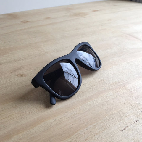 Timeless Sunglasses, Rubberized Black