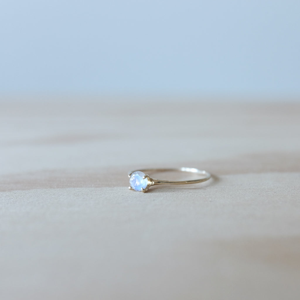 Moonstone Princess Ring, 14K Gold