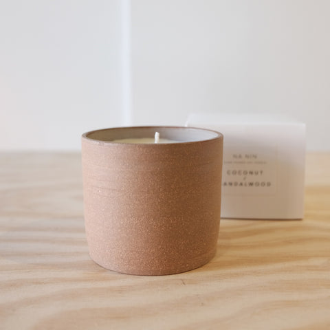 Coconut Sandalwood Ceramic Candle