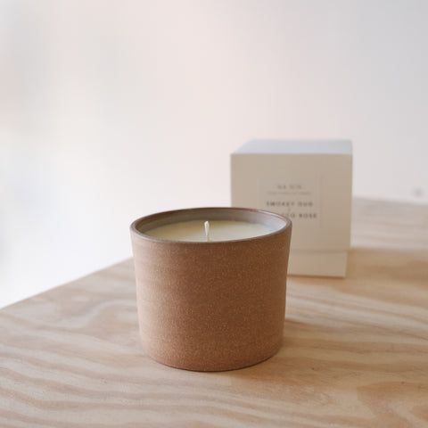 Tobacco Rose Ceramic Candle