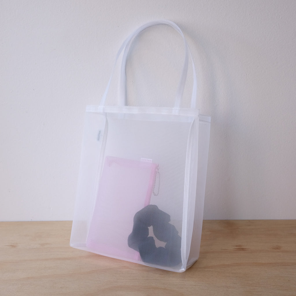 Open Tote Small, White