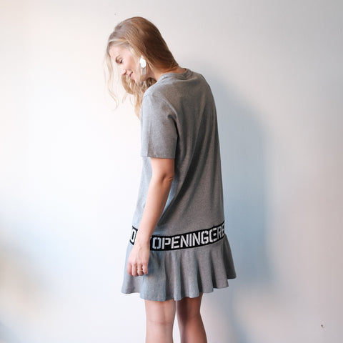 Opening Ceremony Elastic Logo Dress, Grey
