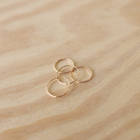 Simple First Knuckle Ring, 14k Gold