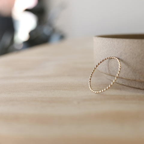 Twist Ring, 14k Gold