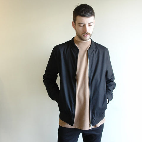 Light Weight Bomber Jacket, Black