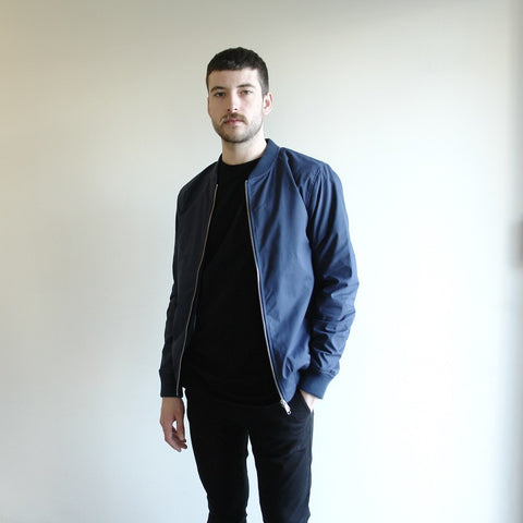 Light Weight Bomber Jacket, Navy