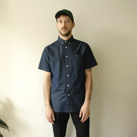 Esquina Oxford Short Sleeve, Indigo