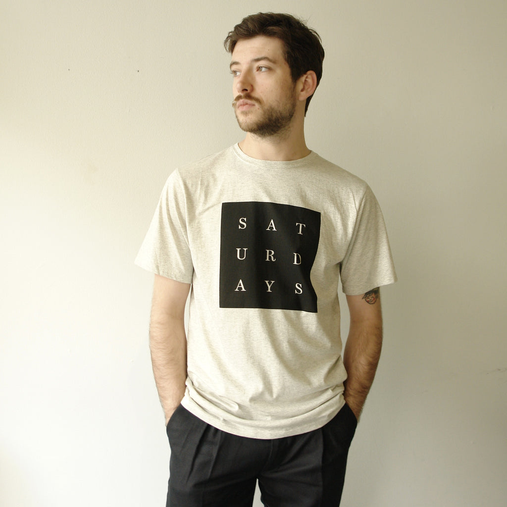Grid Saturdays Tee, Natural Heather