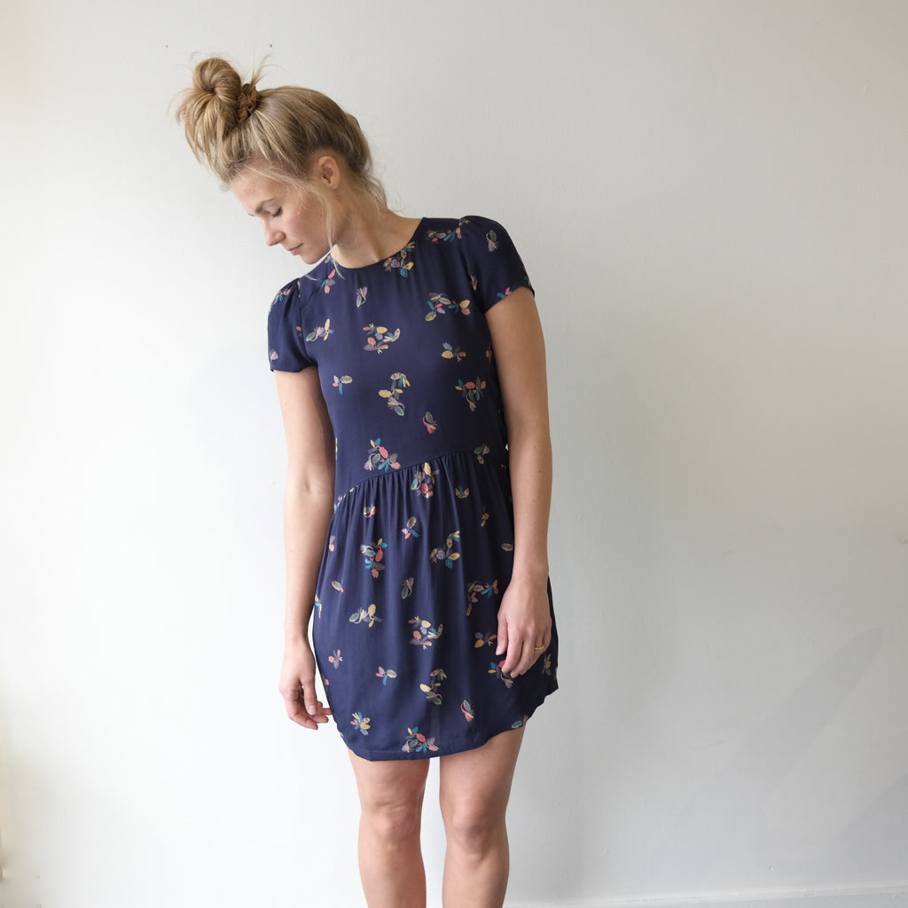 Koko Dress, Indigo Print