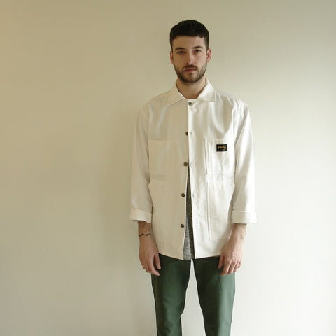 Stan Ray Shop Coat, White Cotton