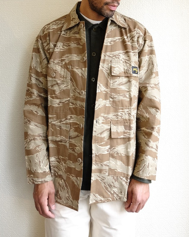 Khaki Tiger Camo Four Pocket Jacket