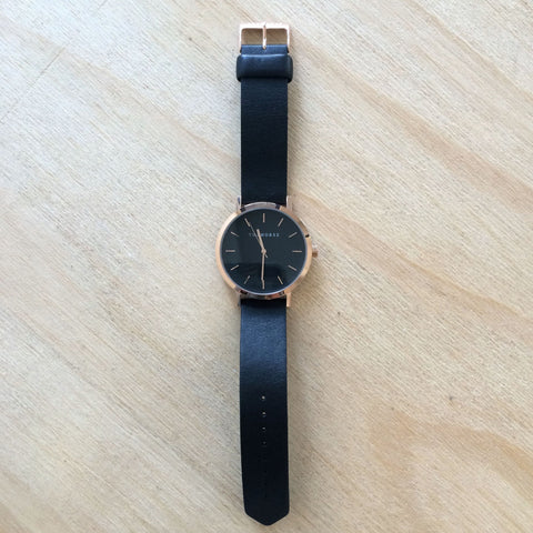 THE HORSE Original / Rose Gold / Black Leather
