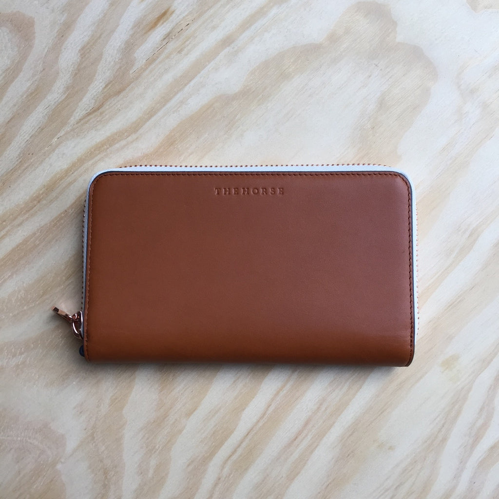 The Horse Block Wallet, Tan