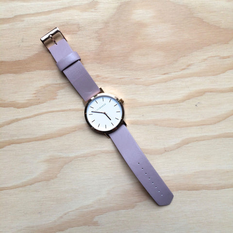 THE HORSE Original / Polished Rose Gold / Blush Leather