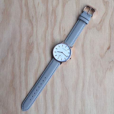 THE HORSE The Classic Rose Gold w Grey Leather